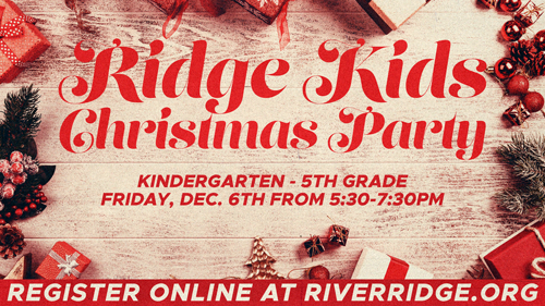 RidgeKids Elementary PJ Movie Night Christmas Party
